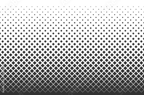 Obraz Dotted gradient vector illustration, white and black halftone background, horizontal seamless dotted lines, monochrome dots texture backdrop, retro effect  - fototapety do salonu