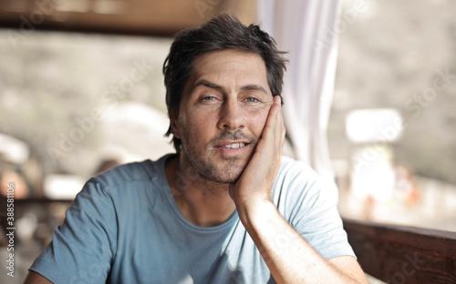 Obraz portrait of a handsome man  - fototapety do salonu