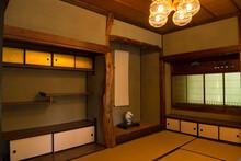 日本家屋の和室 床の...
