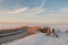 Winter Landscape With Snow And...