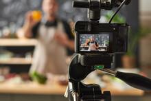 Food Blogger Shooting His Blog...