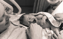 Baby Just Born. New Life Concept.