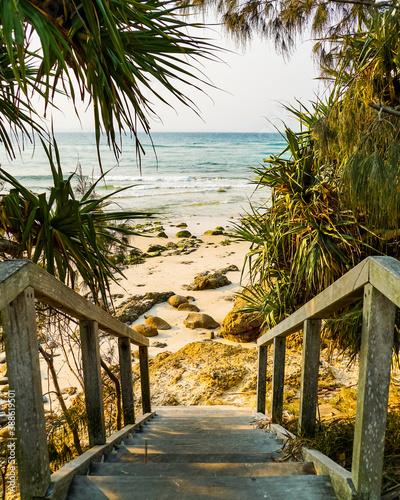 Obraz na plátně Strandtreppe Byron Bay Australien