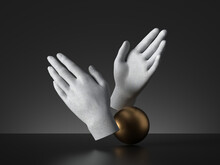 3d Render Mannequin Hands And ...