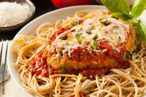 spaghetti with tomato sauce Fototapet