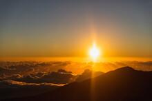 Sunrise Over Mountains On Maun...