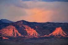 View Of Book Cliffs From Colorado National Monument, Grand Junction, USA