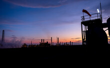 Windsock And Petrochemical Plant