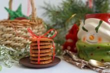 Christmas Table Cookies Gift Mug Snowman