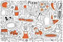 Pizza Doodle Set. Collection O...