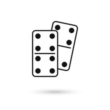 Domino Dice Vector Icon. Flat Sign For Mobile Concept And Web Design. Dominoes Game Icon. Symbol, Logo Illustration. Vector Graphics