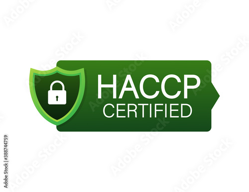 HACCP Certified icon on white background Canvas Print