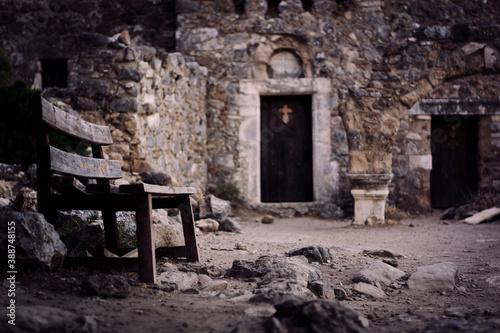 Opuszczona gercka wioska na wyspie Kos Fototapeta