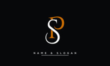 PS, SP, P, S  Abstract Letters Logo Monogram