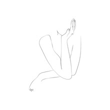 SINGLE-LINE DRAWING OF A HAND (12). This Hand-drawn, Continuous, Line Illustration Is Part Of A Collection Artworks Inspired By The Drawings Of Picasso. Each Gesture Sketch Was Created By Hand.