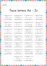 Alphabet Tracing Worksheet. Al...