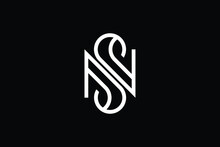 SN Logo Letter Design On Luxury Background. NS Logo Monogram Initials Letter Concept. SN Icon Logo Design. NS Elegant And Professional Letter Icon Design On Black Background. S N NS SN