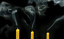 Three Yellow Candles That Have...