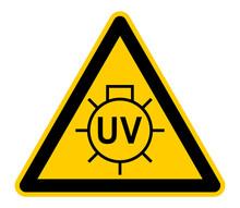 Wso468 WarnSchildOrange - Warnzeichen - German - UV-Strahlung / Ultraviolettstrahlung - English - Radiation - UV Light. - Xxl G9950