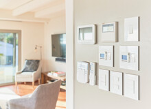 Home Automation Touch Screens And Switches On Wall
