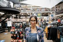 Portrait Smiling Female Bike Shop Owner
