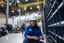 Female Transit Worker Inspecti...
