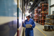 Female Transit Engineer With F...