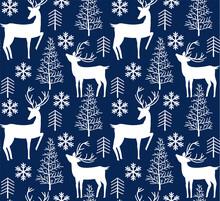 Christmas Reindeer Seamless Pa...