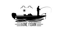 Gone Fishin Svg, Gone Fishing, Bass Boat, Bass Boat Svg, Cut File, For Silhouette, Clipart, Cricut Design Space, Vinyl Cut Files