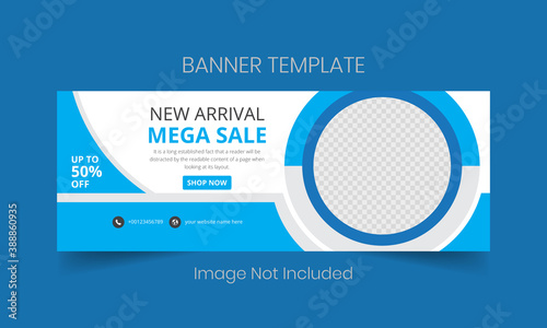 New arrival mega sale social media cover and web banner Canvas