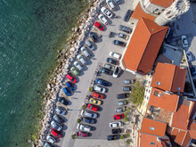 Many Cars Parking In Old Resor...