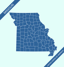 Missouri County Map Vector Out...