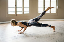 Woman Performing During Yoga T...