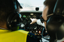 Unrecognizable Pilots Examinin...