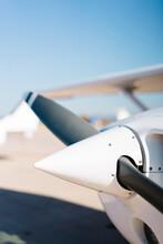 Light Plane On Airfield