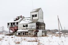 Abandoned Grain Silo In A Village Near Omsk, Siberia
