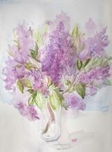 Watercolor Lilac Artwork