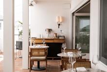 Trendy Outdoor Patio Dining Area