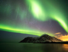 Northern Lights Shine In The S...