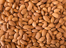 Background Of Almonds Closeup....