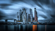 Moscow City Skyline At Sunset,...