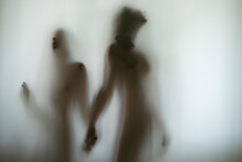 Silhouette Of A Guy And A Girl.