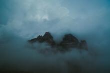 Silhouette Of Mountain Peaks I...