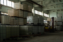 Warehouse Full Of Cube Tank On...