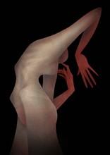 Naked Female Figure In An Unus...