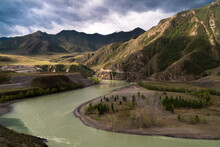 Altay Mountains And River Katu...