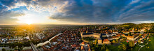 Sunrise At Old Town Of Bamberg, Bavaria, Germany