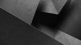 Abstract gray geometric shapes of triangles. Concrete background. 3d Rendering