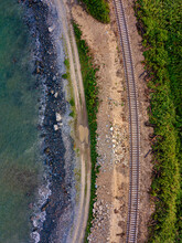 Aerial View Of Empty Railroad ...