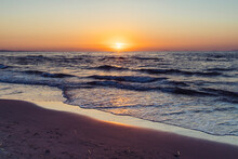 Sunset View Of Beach